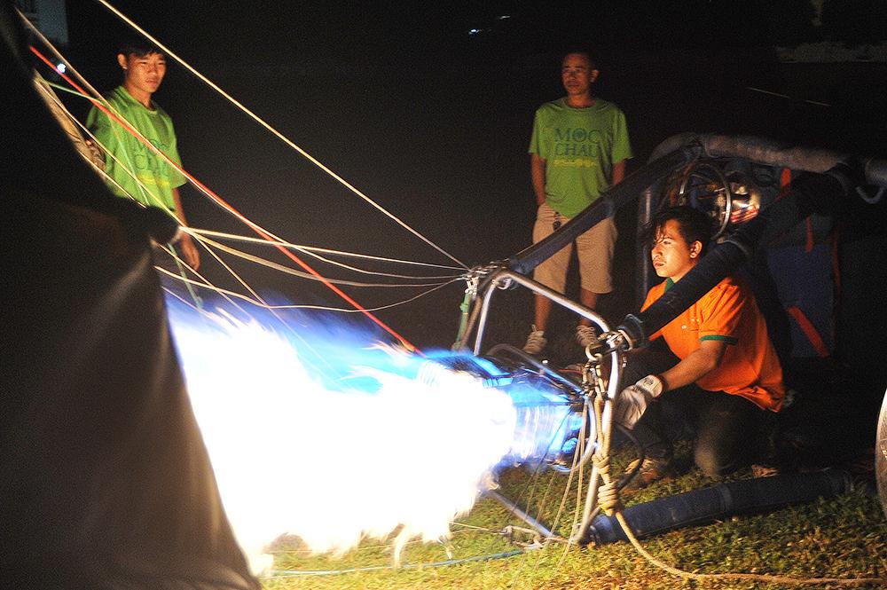 Các bước để bắt đầu bay trên khinh khí cầu